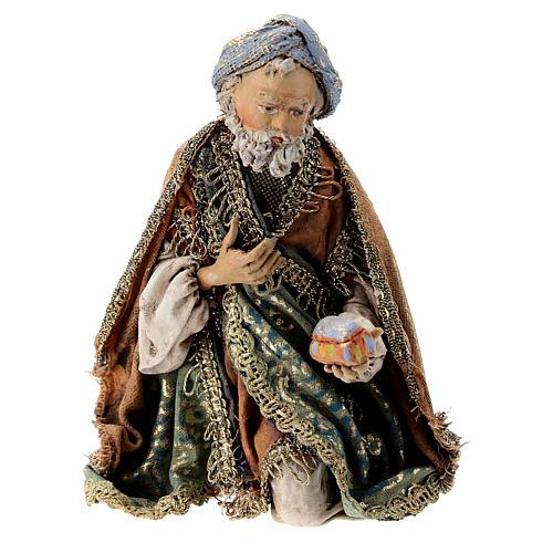 Nativity scene figurine, Kneeling King by Angela Tripi 13 cm 1