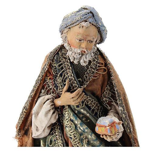 Nativity scene figurine, Kneeling King by Angela Tripi 13 cm 2
