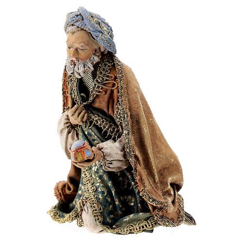 Nativity scene figurine, Kneeling King by Angela Tripi 13 cm 3