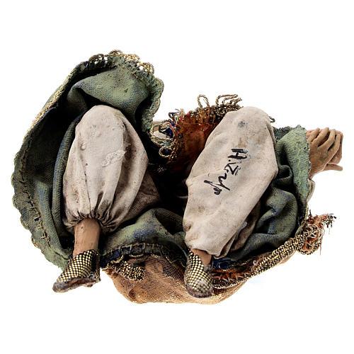 Nativity scene figurine, Kneeling King by Angela Tripi 13 cm 6