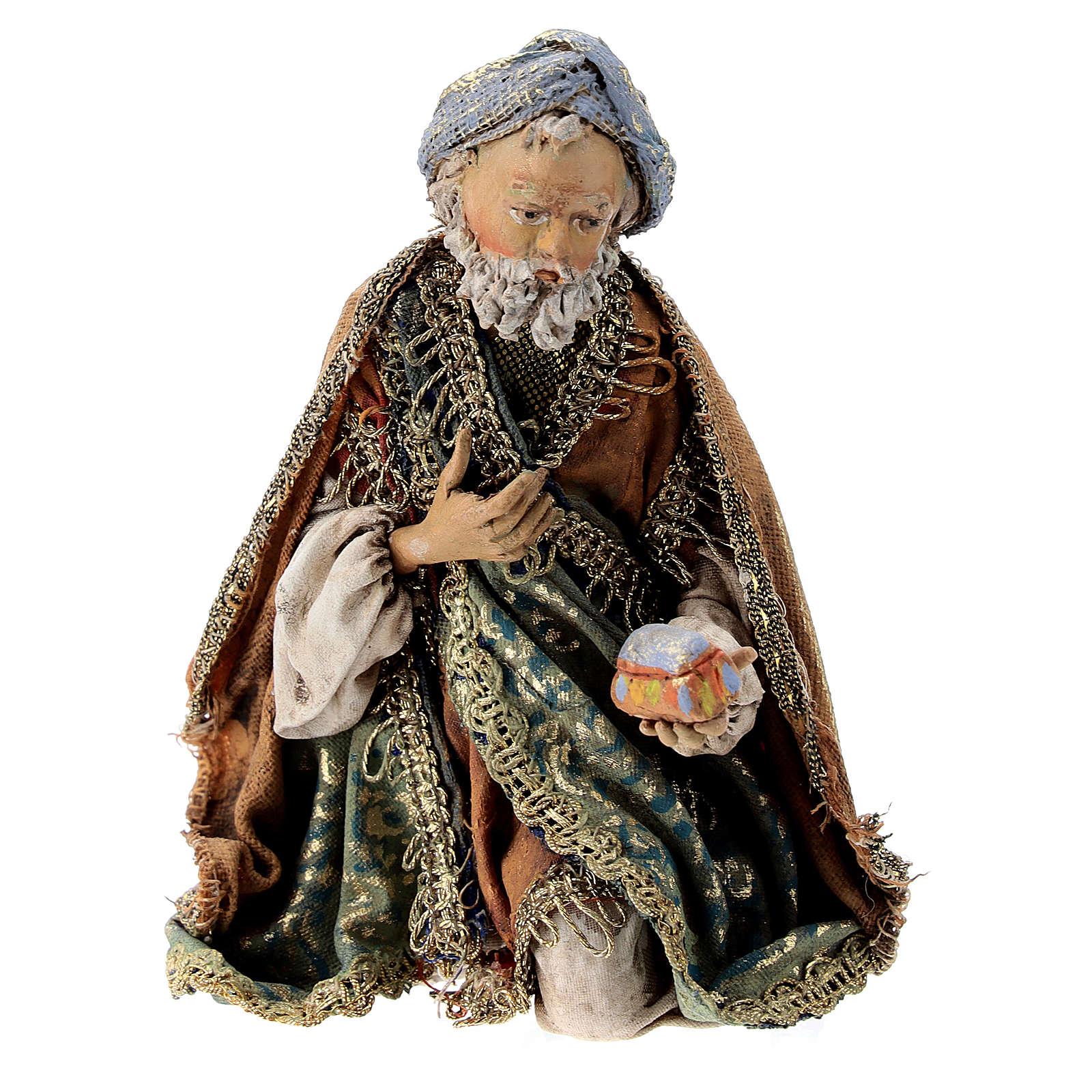 Roi Mage à genoux 13 cm Angela Tripi 4
