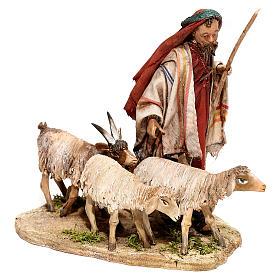 Nativity scene figurine, Shepherd with herd by Angela Tripi 13 cm s3