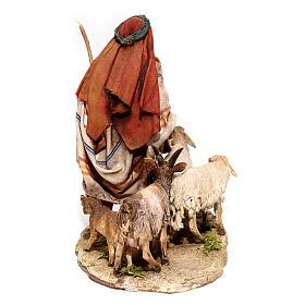 Nativity scene figurine, Shepherd with herd by Angela Tripi 13 cm s4