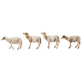 Nativity scene figurine, Shepherd with herd by Angela Tripi 13 cm s7