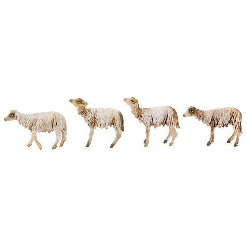 Nativity scene figurine, Shepherd with herd by Angela Tripi 13 cm 7