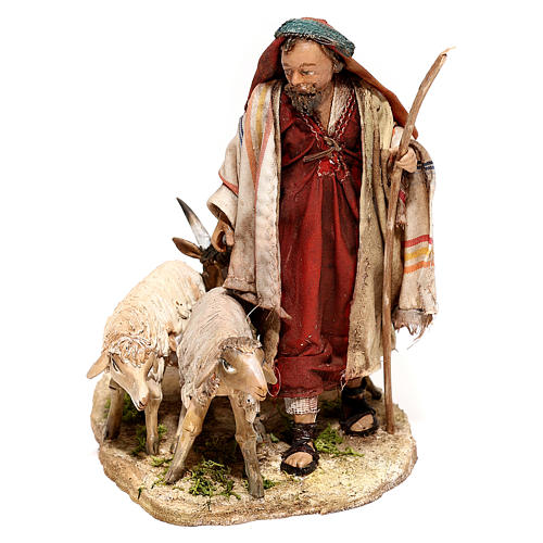 Pastor con rebaño 13 cm creación Angela Tripi 1