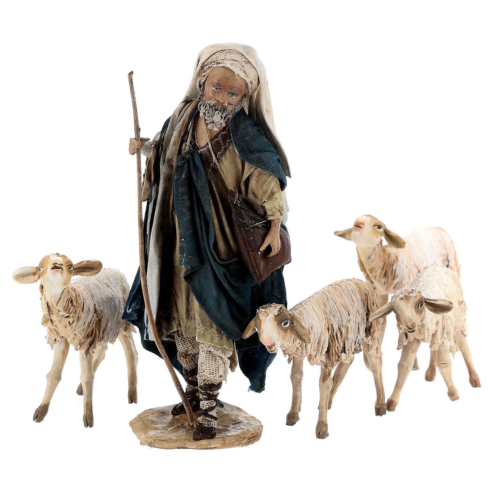 Shepherd with flock, 13 cm Angela Tripi 4