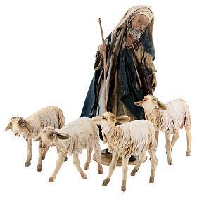 Shepherd with flock, 13 cm Angela Tripi s1