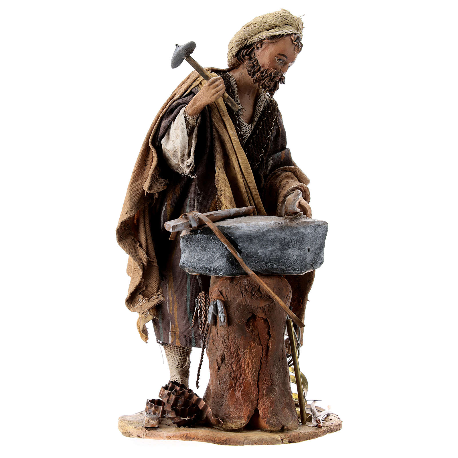 Nativity scene figurine, Blacksmith at work by Angela Tripi 13 cm 4