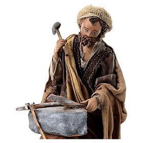 Nativity scene figurine, Blacksmith at work by Angela Tripi 13 cm s2