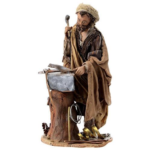 Nativity scene figurine, Blacksmith at work by Angela Tripi 13 cm 3