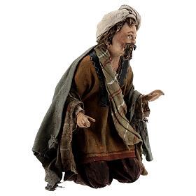 Nativity scene figurine, Amazed shepherd by Angela Tripi 13 cm s4