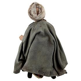Nativity scene figurine, Amazed shepherd by Angela Tripi 13 cm s5