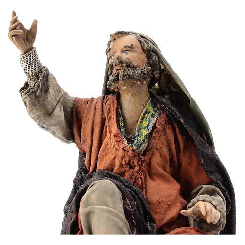 Nativity scene figurine, Amazed shepherd by Angela Tripi 13 cm 2