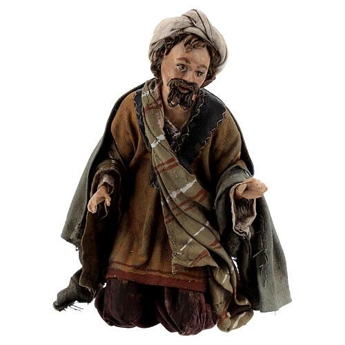 Nativity scene figurine, Amazed shepherd by Angela Tripi 13 cm 1