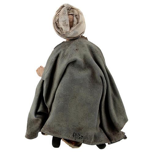 Nativity scene figurine, Amazed shepherd by Angela Tripi 13 cm 5