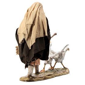 Nativity scene figurine, Man with geese by Angela Tripi 13 cm s5