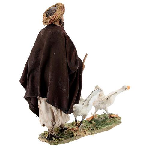 Nativity scene figurine, Man with geese by Angela Tripi 13 cm 7