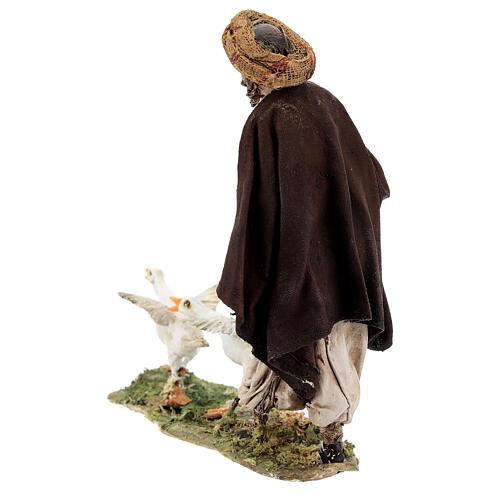 Nativity scene figurine, Man with geese by Angela Tripi 13 cm 8