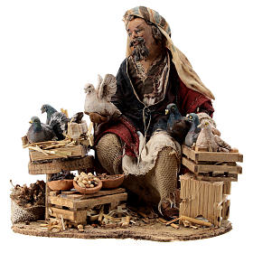 Nativity scene figurine, Bird seller by Angela Tripi 13 cm s3