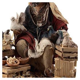 Nativity scene figurine, Bird seller by Angela Tripi 13 cm s4