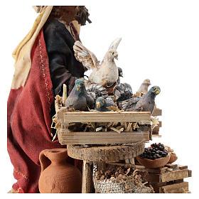 Nativity scene figurine, Bird seller by Angela Tripi 13 cm s6