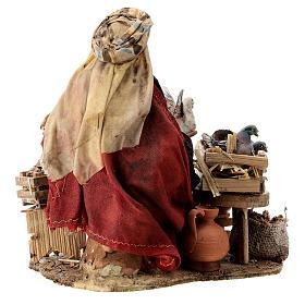 Nativity scene figurine, Bird seller by Angela Tripi 13 cm s7
