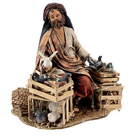 Nativity scene figurine, Bird seller by Angela Tripi 13 cm s5