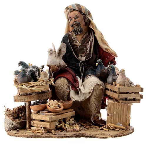 Nativity scene figurine, Bird seller by Angela Tripi 13 cm 1
