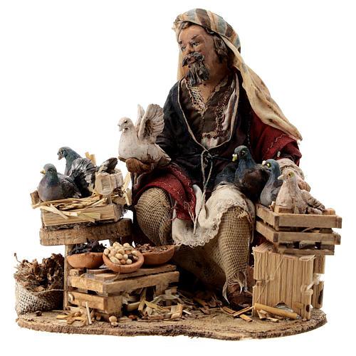 Nativity scene figurine, Bird seller by Angela Tripi 13 cm 3