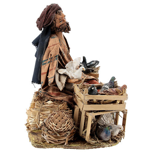 Nativity scene figurine, Bird seller by Angela Tripi 13 cm 7