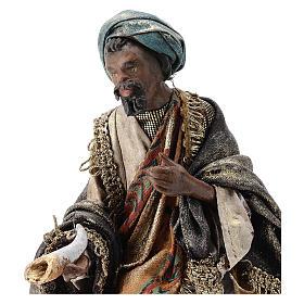 Nativity scene figurine, Dark-skinned King by Angela Tripi 13 cm s2