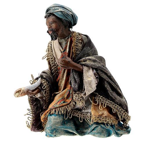 Nativity scene figurine, Dark-skinned King by Angela Tripi 13 cm 3
