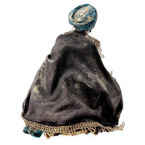 Nativity scene figurine, Dark-skinned King by Angela Tripi 13 cm 5