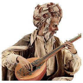 Musicien avec instrument Angela Tripi crèche terre cuite 30 cm s4