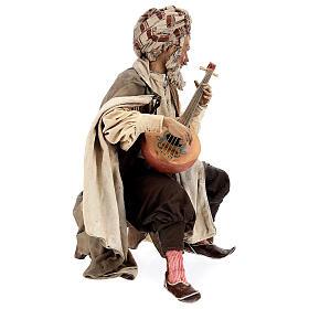 Musicien avec instrument Angela Tripi crèche terre cuite 30 cm s5