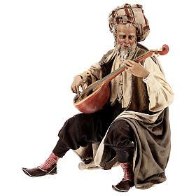 Musicante con strumento Angela Tripi presepe terracotta 30 cm s3