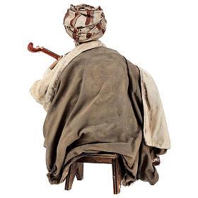 Musicante con strumento Angela Tripi presepe terracotta 30 cm s7