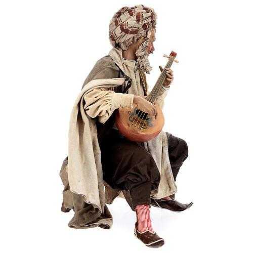 Musicante con strumento Angela Tripi presepe terracotta 30 cm 5