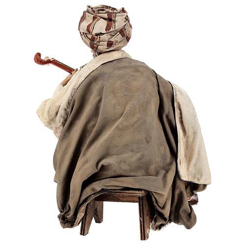 Musicante con strumento Angela Tripi presepe terracotta 30 cm 7