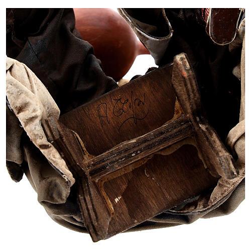 Musicante con strumento Angela Tripi presepe terracotta 30 cm 8