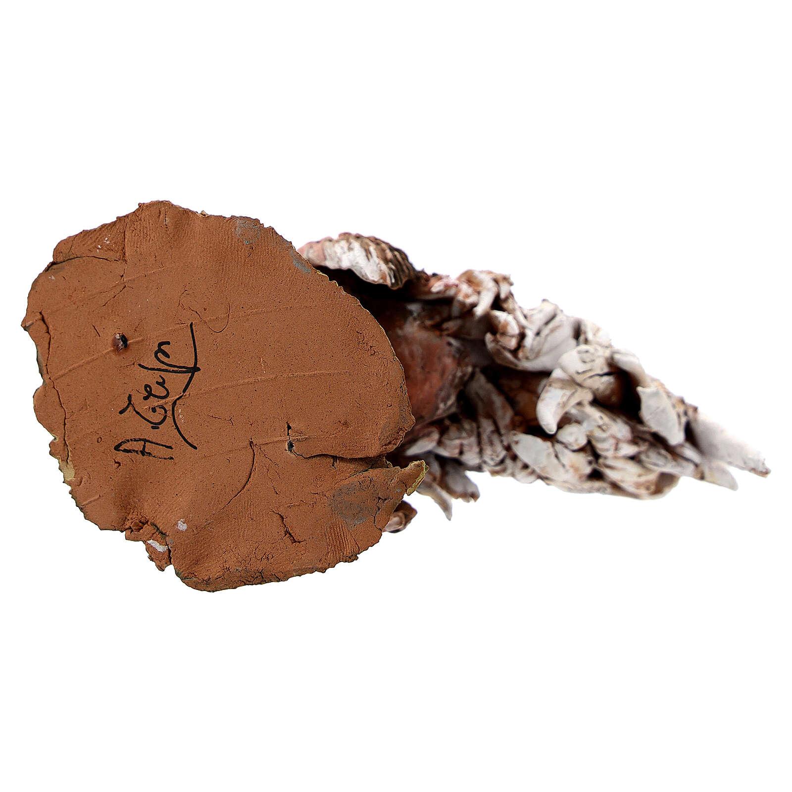 Coq en terre cuite crèche 30 cm Angela Tripi 4