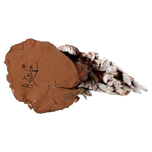 Coq en terre cuite crèche 30 cm Angela Tripi 7