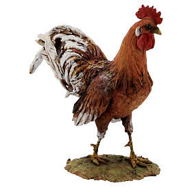 Rooster figurine in terracotta, 30 cm nativity Angela Tripi s4
