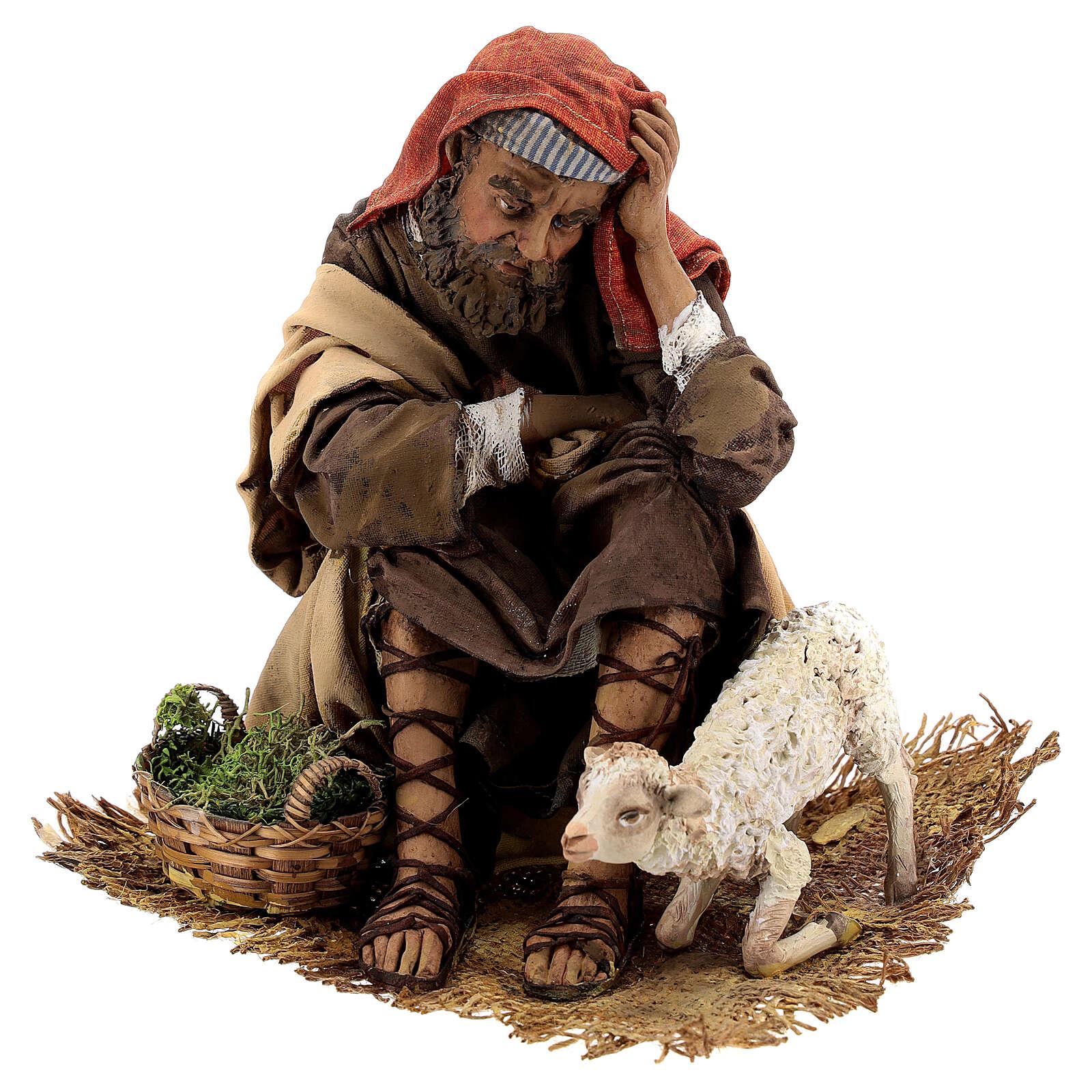 Scene: Announcement to the Shepherds, 30 cm - Angela Tripi 4