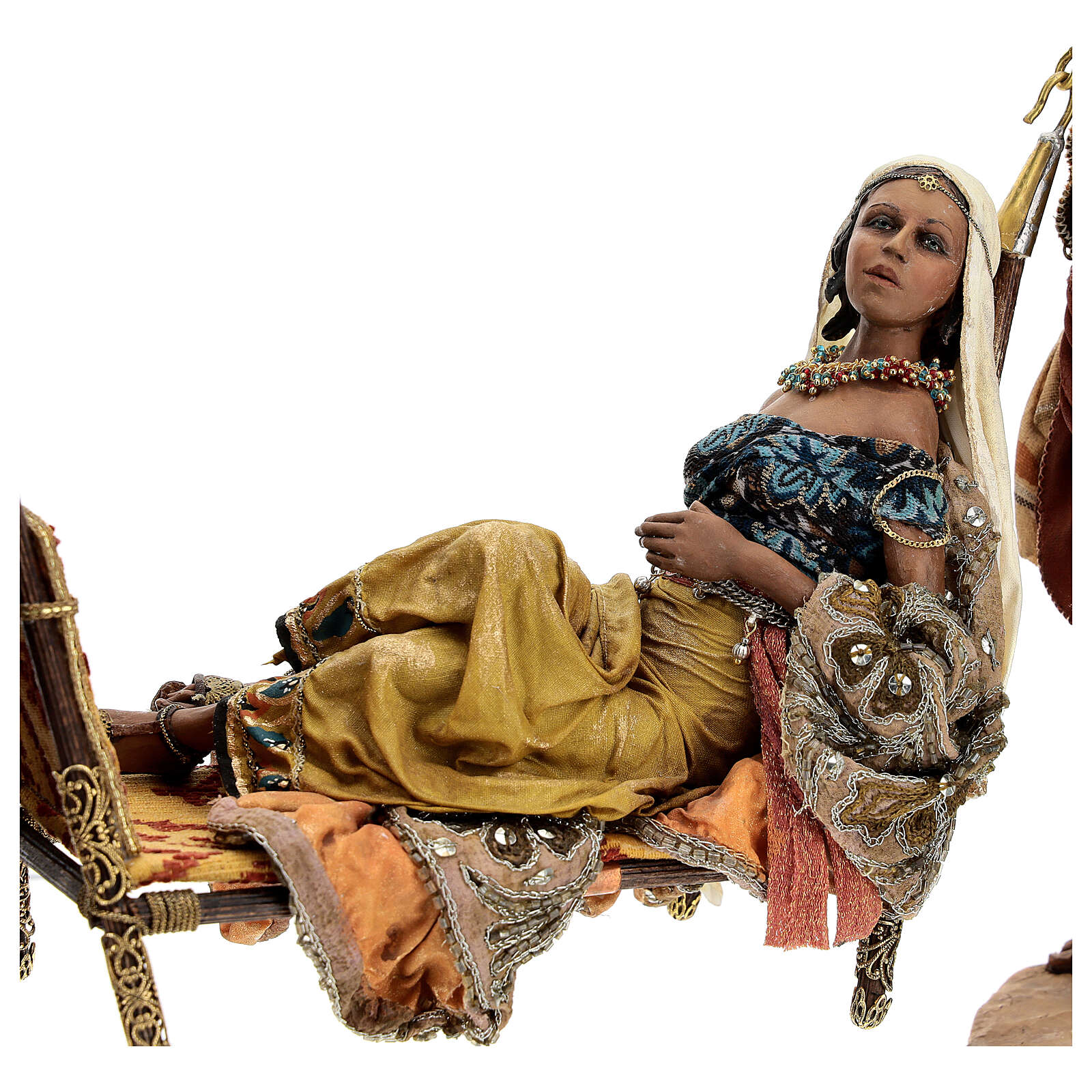 Queen of Sheba scene, 30 cm Angela Tripi 4