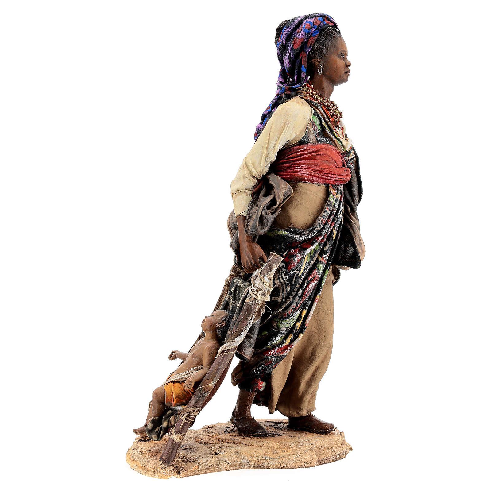 Femme maure avec enfant 30 cm atelier Angela Tripi 4