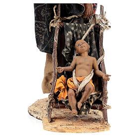 Femme maure avec enfant 30 cm atelier Angela Tripi s3
