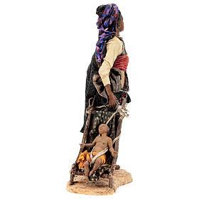 Femme maure avec enfant 30 cm atelier Angela Tripi s7