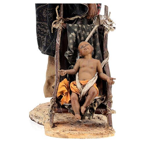 Femme maure avec enfant 30 cm atelier Angela Tripi 3